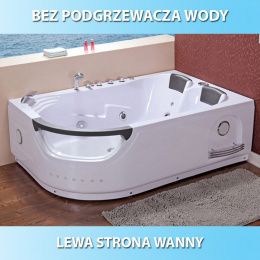 Wanna SPA z hydromasażem Creative 665 180x120 Lewa