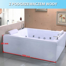 Wanna SPA z hydromasażem Diablo 666 180x150
